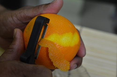 Orange zesting